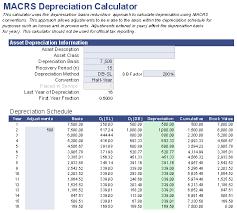 Depreciation Schedule Calculator Free Macrs Depreciation Calculator For Excel