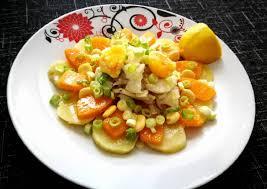 Ensalada De Bacalao Y Verduras Cocidas