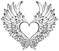 600x519 heart coloring pages with wings coloring pictures of hearts and