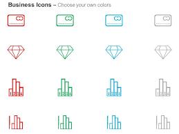 Credit Card Diamond Bar Chart Diagram Ppt Icons Graphics