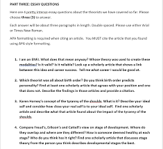 Solved Part Three Essay Questions Here Are 4 Pretty Inte