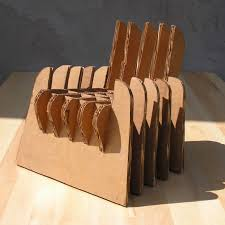 Corrugated Cardboard Furniture Industrial Design Piotr Pacalowski Cardboard Furniture Design