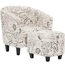 best choice s modern contemporary linen upholstered barrel accent chair furniture set for home living