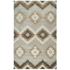 rizzy home leone gray southwestern 8 ft x 10 ft area rug