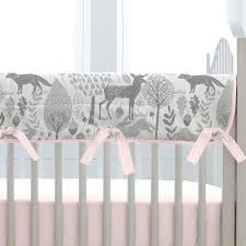 amazing woodland nursery bedding 26 pink and gray crib large 7
