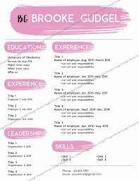 Sorority Resume Template New Blush Resume Contact Brookegudgel Gmail
