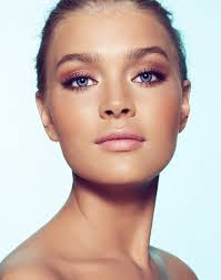 eye focused bridal makeup look with bronze and tan shades peach cheeks gorgeous