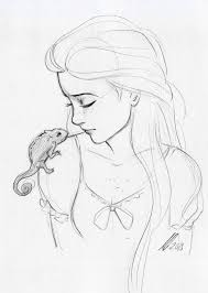 Rapunzel By Andythelemon Disney Draw Disegni A Matita Disegni