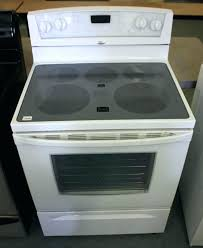 electric range top. Whirpool Electric Cooktop Whirlpool White Glass Top Stove Parts Range