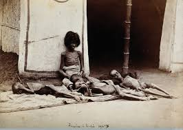 timeline of major famines in during british rule  five emaciated children during the famine of 1876 78 photographer ww hooper