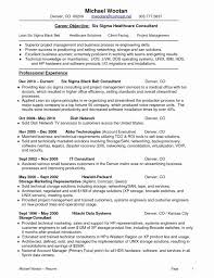 Disaster Recovery Plan Example Fresh It Lovely Consultant Resume