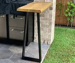 bar height table legs table furniture