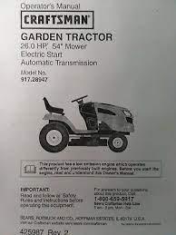 25 0 h p 54 mower garden tractor owner