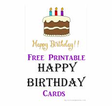 Happy Birthday Card Printable Birthday Cake Transparent