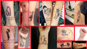 Father And Son Tattoos Designs Best 50 Dad Tattoo Ideas For Daughters And Son On Wrist Father Daughter Tattoos Fashionwing