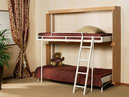 Fold Down Bunk Beds Bunk Bed Solutions For Small Spaces Home Delightful Loft With Desk