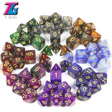 T&G Creative <b>Universe Galaxy</b> Dice Set of D4 D20 with Mysterious ...
