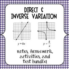 best education algebra variation d i images  direct and inverse variation notes homework activities and test bundle algebra 1algebra helpteaching