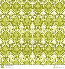 Green Vintage Paisley Damask Wallpaper ...