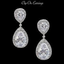 dazzling earrings clip on er142