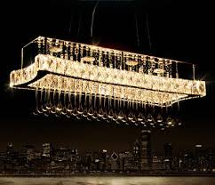 modern innovation rectangular led k9 crystal chandelier restaurant light lightin