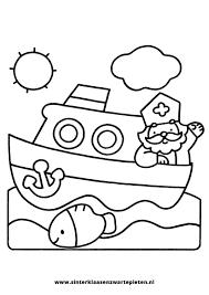 25 Idee Kleurplaat Sinterklaas Met Stoomboot Mandala Kleurplaat