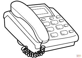 Disegno Di Telefono Con Pulsanti Da Colorare Disegni Da Colorare E