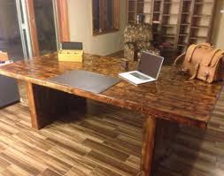reclaimed wood desks home office