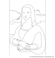 Small Picture Mona Lisa Leonardo da Vinci coloring page