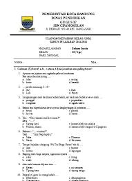 Berilah tanda silang ( x ) pada huruf a, b, c, d soal terkait : Top Pdf Soal Ukk Bahasa Sunda Kelas 3 123dok Com