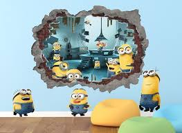minions blasted wall decal minions blasted wall decal on minion wall decals