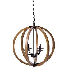 distressed mahogany and bronze 4 light vineyard orb chandelier by i love living