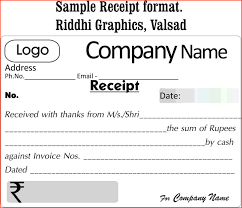 Receipt Format Word Cash Payment Receipt Format In Word Sample Invoice Voucher Free