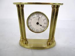 linden quartz gold tone desk clock p