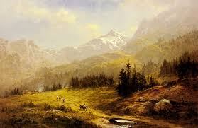the wengen alps morning in switzerland more art oil paintings on canvas