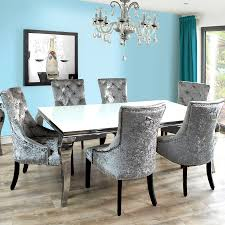 charming size dining room grey wallpaper black table gray fabric inside the stylish and also attractive dining table with grey chairs