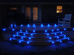 outdoor stairs lighting. Picture Of BLUE LED DECK LIGHTS Outdoor Stairs Lighting U