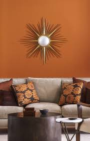 Burnt Orange Living Room Design 14 Best Orange Paints For The Perfect Pop Of Color Living