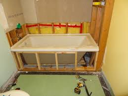 how to build a drop in bathtub frame ideas