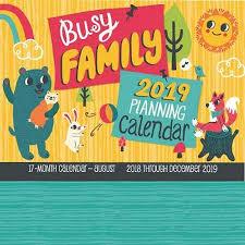 17 Month Calendar Busy Family Planning Calendar 2019 17 Month Calendar August 2018 Through December 2019 Other