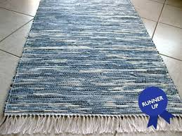 blue jean rug announcing the winners of recycled denim challenge rugs