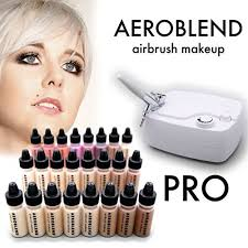 aeroblend airbrush makeup pro starter kit professional cosmetic airbrush makeup system 24 color full 1 year warranty