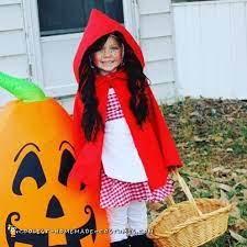 coolest homemade little red riding hood