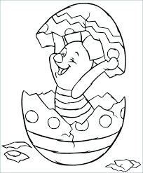 Easter Coloring Pages Disney Piglet Hatching From Egg Coloring Page
