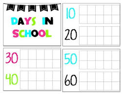 Number Of Days In School Chart Worksheets Teaching