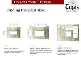area rug size for living