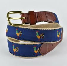 leather man ltd canvas belt rooster en blue handmade es ct sz 36