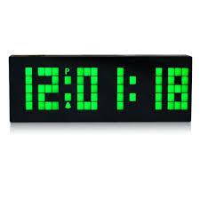 led wall clock battery operated digital large big jumbo led snooze wall desk alarm clock calendar
