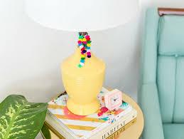 Diy Pom Pom Table Lamp Tassels Fun365