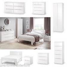 white chic bedroom furniture. image is loading dakotawhitehighglossfullrangeofmodern white chic bedroom furniture i